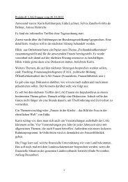 Protokoll LAG Frauen vom 20.10.2013 Anwesend waren: Karin ...