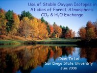 Use of Stable Oxygen Isotopes in Studies of Forest-Atmospheric CO ...