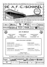 28 september 2005, 84e jaargang nummer 3 - AFC, Amsterdam