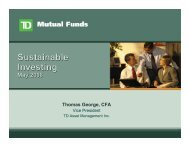 Sustainable Investing Sustainable Investing - CIFPs