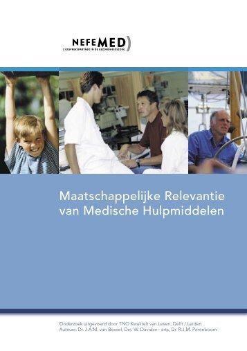 Maatschappelijke Relevantie van Medische Hulpmiddelen