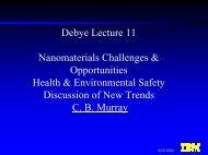 Debye Lecture 11 Nanomaterials Challenges ... - Debye Institute