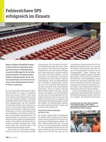 Fehlersichere SPS erfolgreich im Einsatz - Siemens
