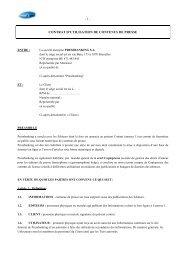 Contrat Utilisation au 01 janvier 2007 révision ... - Pressbanking