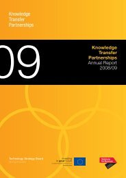 09 Knowledge Transfer Partnerships Annual Report 2008/09