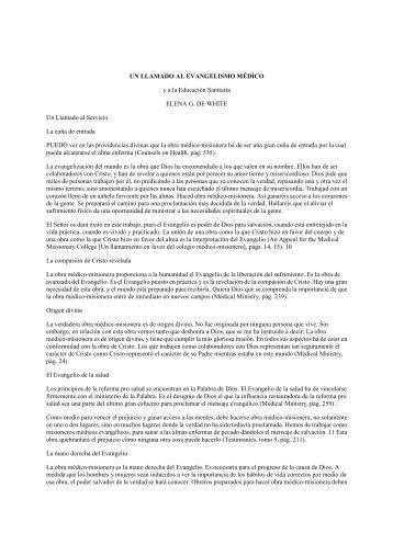 UN LLAMADO AL EVANGELISMO MEDICO y a la ... - Loud-cry.com