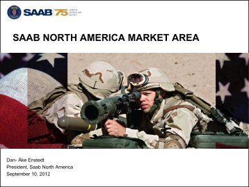 the north american markets - Saab