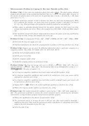 Microeconomics. Problem set 3 (group 3). Due date: Tutorials on ...
