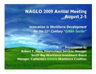 Innovation in Workforce Development for the 21st Century - NAGLO