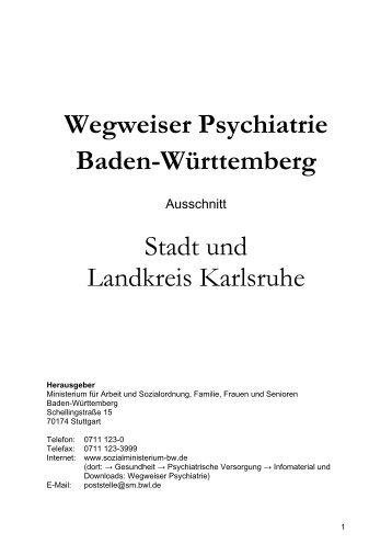 Wegweiser Psychiatrie Baden-Württemberg - Landkreis Karlsruhe