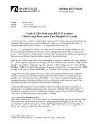 news release - Grubb & Ellis