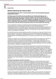 Medienmitteilung des Kantons Bern - BSPV
