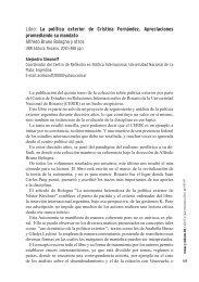Libro: La política exterior de Cristina Fernández. Apreciaciones ...