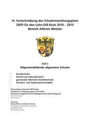 Teil I: Allgemeinbildende allgemeine Schulen - Lahn-Dill-Kreis