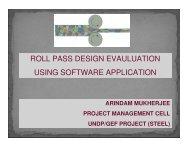 roll pass design evauluation using software application - IIM