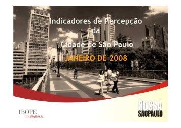 Veja a apresentação resumida - Rede Nossa São Paulo