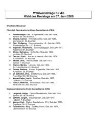 Wahlvorschläge Kreistagswahl 2009 - Landkreis Karlsruhe