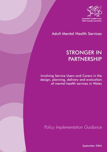Adult mental health services : stronger in partnership