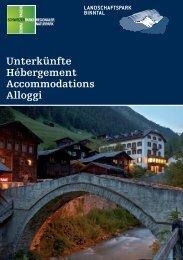 Unterkunftsverzeichnis, 4.5 MB -  Landschaftspark Binntal
