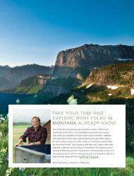 TAKE YOUR TIME AND EXPLORE WHAT FOLKS IN ... - Visit Montana