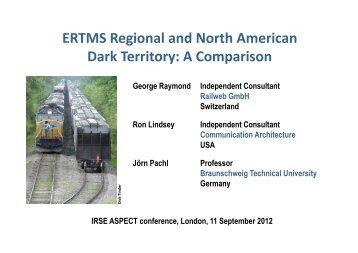 ERTMS Regional and North American Dark Territory: A ... - Railweb.ch