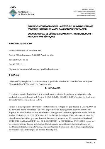 2- OBJECTE - Ajuntament de Pineda de Mar