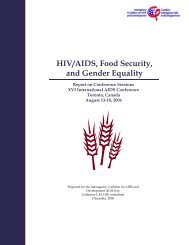 HIV/AIDS, Food Security, and Gender Equality - IFPRI - International ...