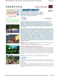 Danube Impressions by Bike and Boat - Bike Tours To Go