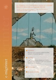 e-migrinter 2009 numéro 04 - Maison des Sciences de l'Homme et ...