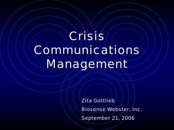 CRISIS MANAGEMENT - Chamber Organizer