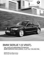 Prenos podatkov Trenutne cene za BMW Serija 1 (PDF, 781k).