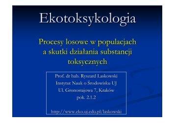 Procesy losowe w populacjach a skutki działania substancji ...