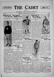 The Cadet. VMI Newspaper. March 21, 1922 - New Page 1 [www2 ...