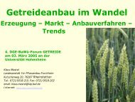 Getreideanbau im Wandel: Erzeugung, Markt, Anbauverfahren und ...