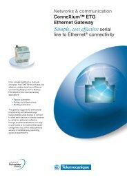 Download ConneXium ETG Ethernet Gateway - Schneider Electric