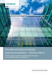 Paloilmoitusjärjestelmän laajennusratkaisu - Sinteso Move - Siemens