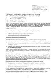 veiklos planas - Standartizacijos departamentas prie AM