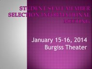 Information from Student Staff Selection Info ... - Furman University