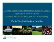 W. de Vries - Plant Nutrition Group