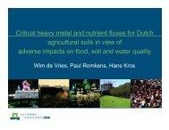 W. de Vries - Plant Nutrition Group