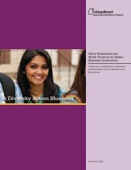A Diversity Action Blueprint - College Board Advocacy & Policy Center