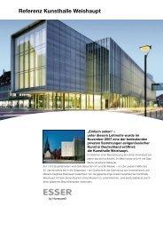 Referenz Kunsthalle Weishaupt - ESSER by Honeywell