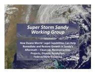 Super Storm Sandy Working Group - Duane Morris LLP