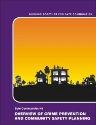 Overview of Crime Prevention and Community ... - Ministry of Justice