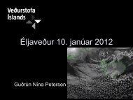 Erindi Guðrúnar Nínu um óveðrið 10. jan. 2012