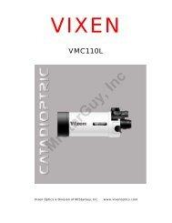 VMC95L and VMC110L Manual - Vixen Optics