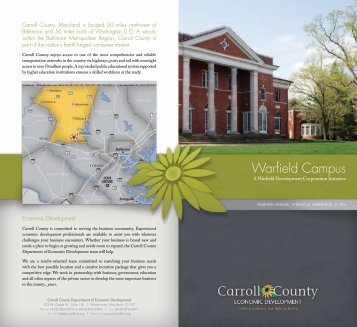 Warfield Campus - Carroll County Department of Economic ...
