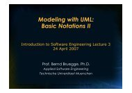 UML - Chair for Applied Software Engineering