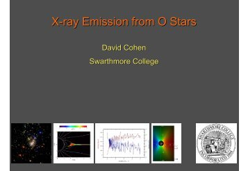 X-ray Emission from O Stars - Astronomy at Swarthmore College
