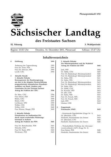 Sächsischer Landtag des Freistaates Sachsen - Der Sächsische ...